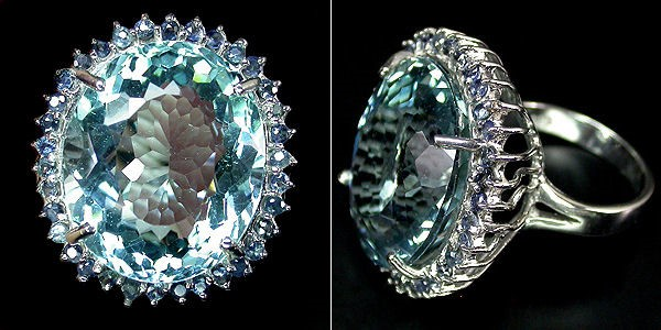 кольцо с аквамарином