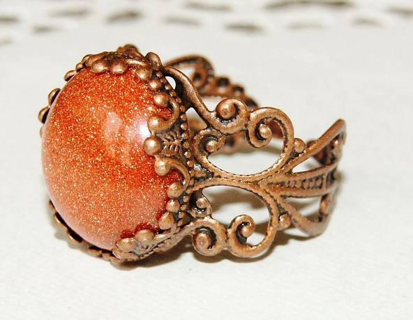 кольцо с авантюрином