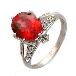 кольцо с гиацинтом