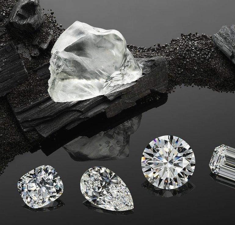 Отличия алмаза от бриллианта