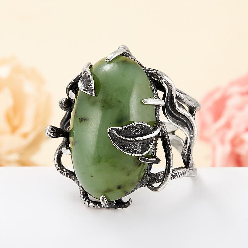 перстень с нефритом