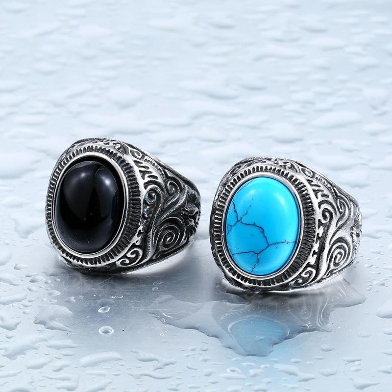 кольца мужские из бирюзы