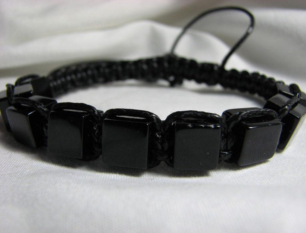 браслет из черного агата