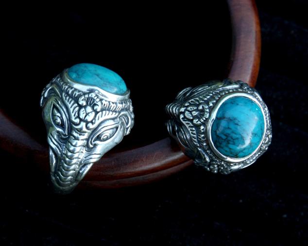 перстень с бирюзой