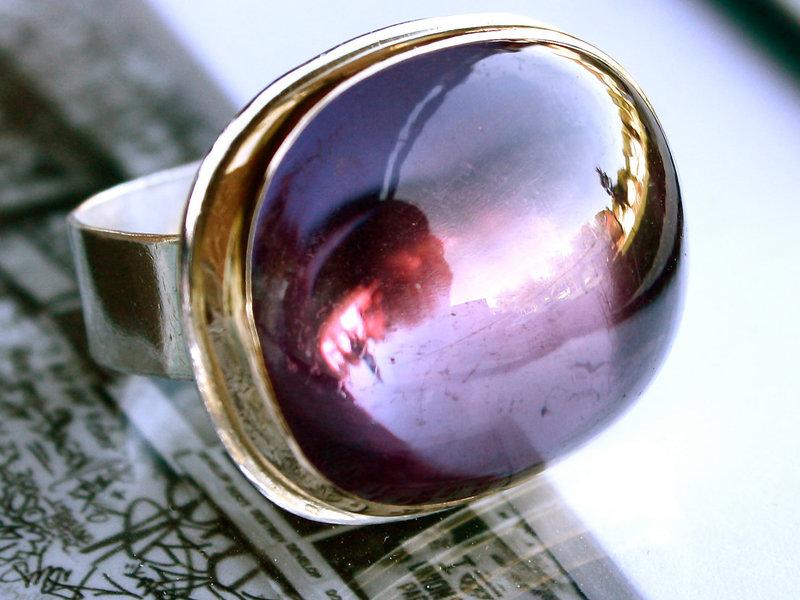 перстень с александритом