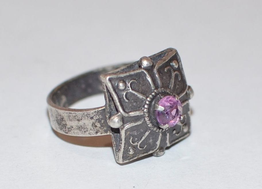 кольцо с 875 пробой со звездой