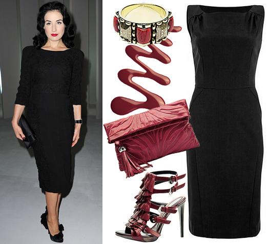 Аксексуары для чёрного платья