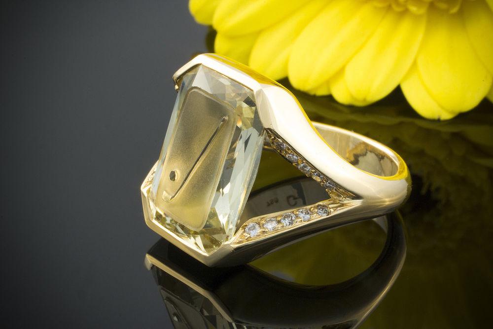 Перстень с гелиодором