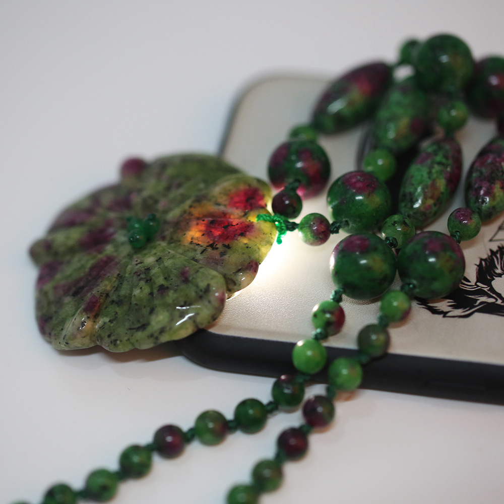 Ожерелье с эпидотом